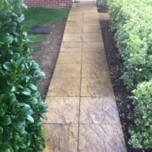 Garden Slabs After