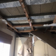 Rotten Ceiling Repair Before